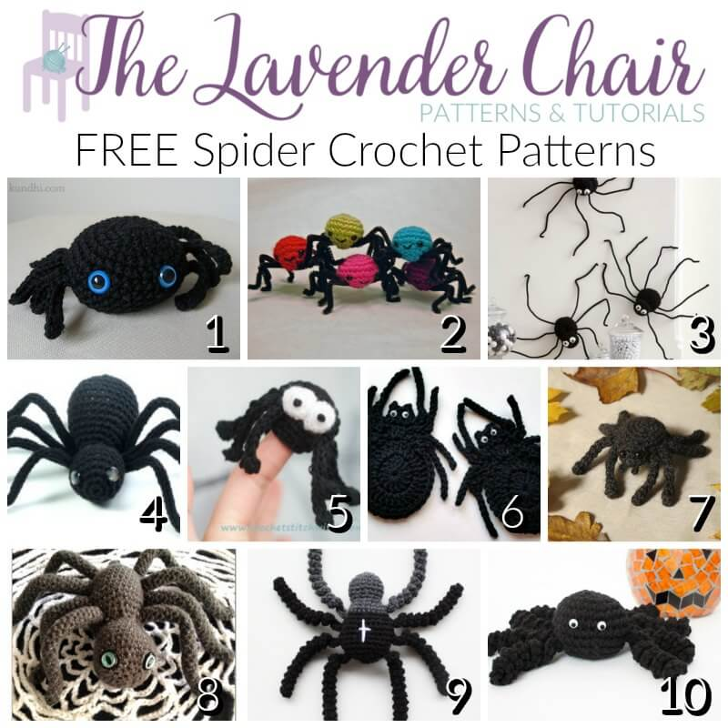 Free Spider Crochet Pattern - Free Crochet Patterns - The Lavender Chair