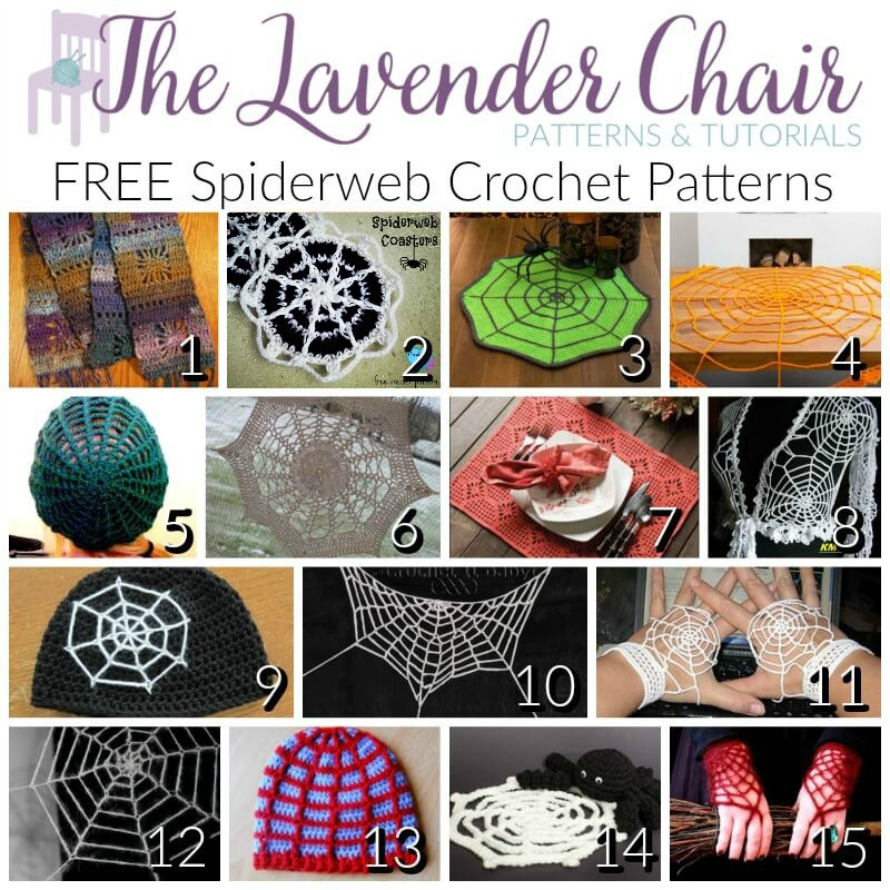 Free Spiderweb Crochet Patterns - The Lavender Chair