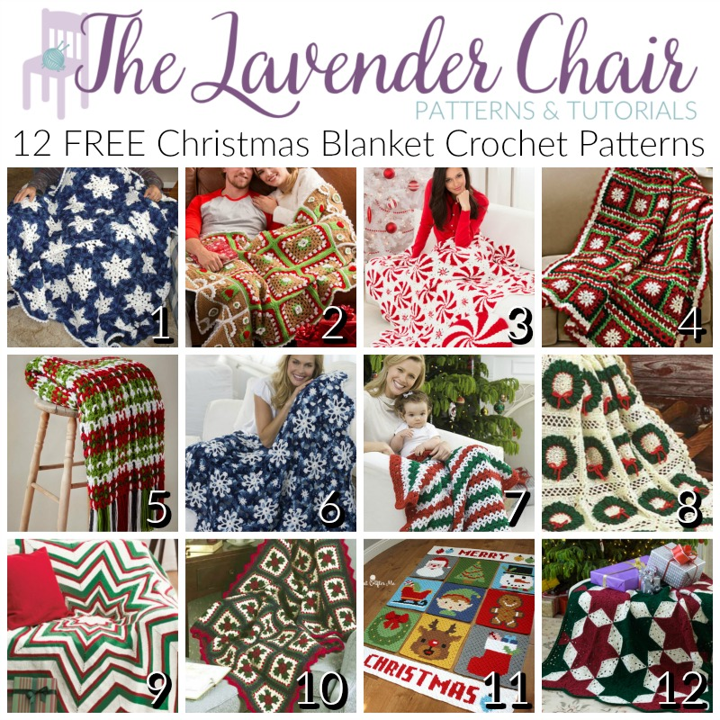 Christmas Blanket Crochet Patterns - Free Crochet Patterns - The Lavender Chair