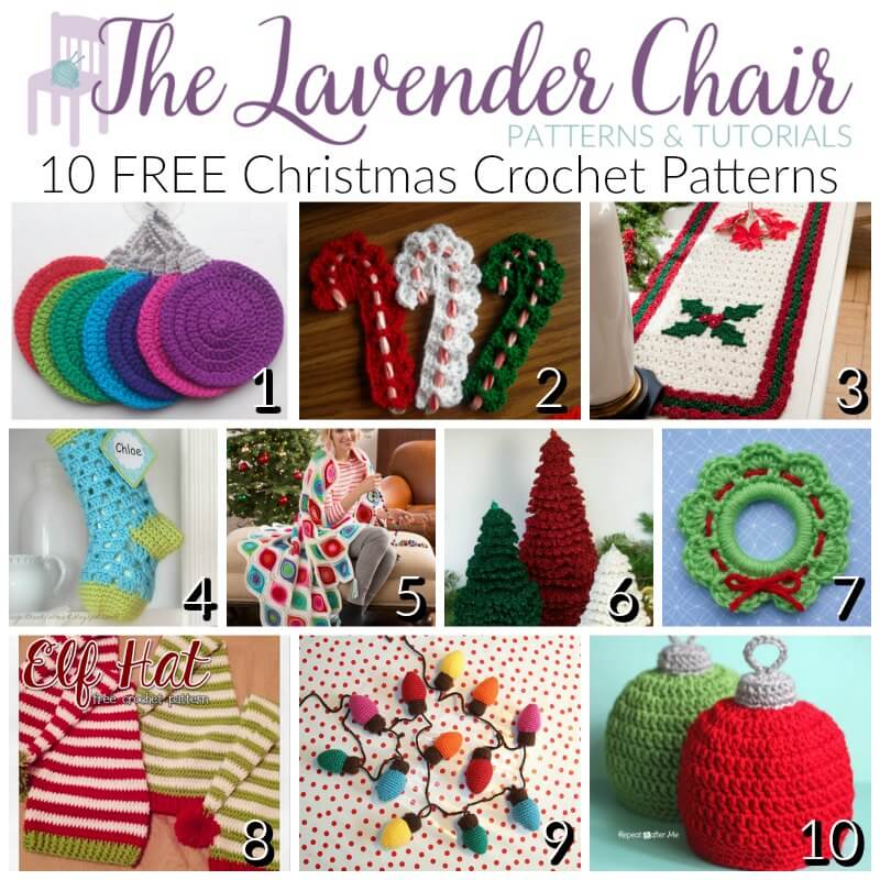Free Christmas Crochet Patterns - The Lavender Chair