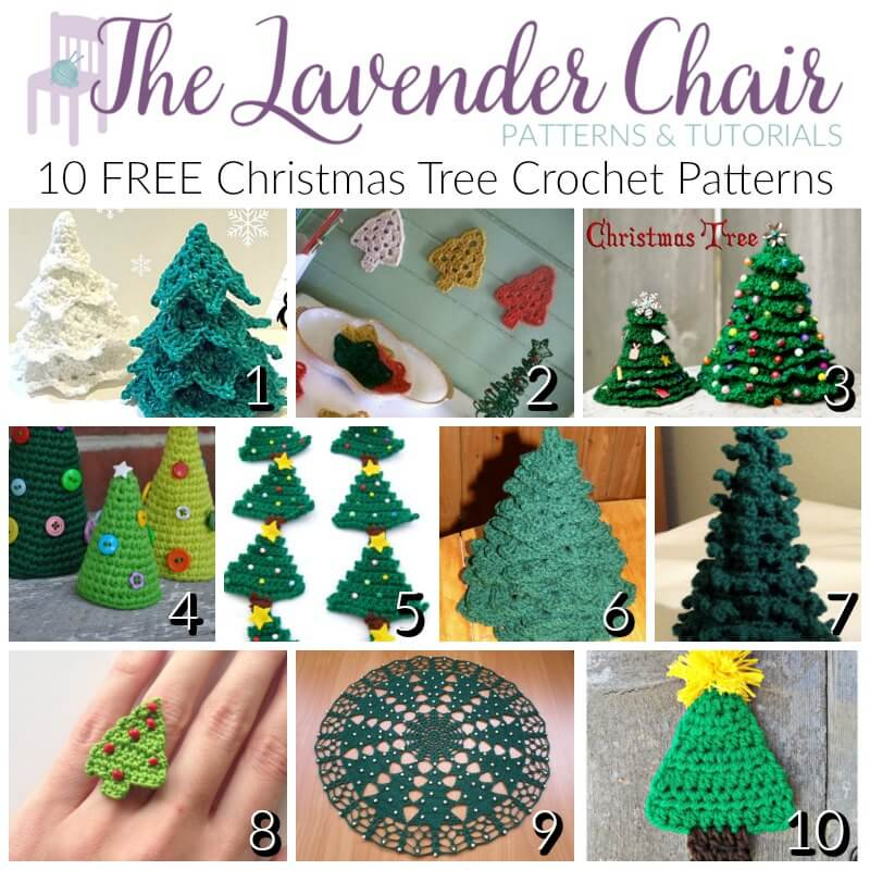 Free Christmas Tree Crochet Patterns - The Lavender Chair