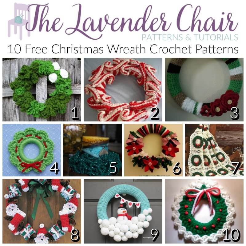 Knitting Patterns For Xmas Wreaths