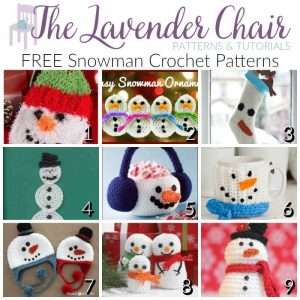 FREE Snowman Crochet Patterns