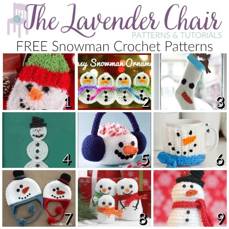 Free Snowman Crochet Patterns - The Lavender Chair