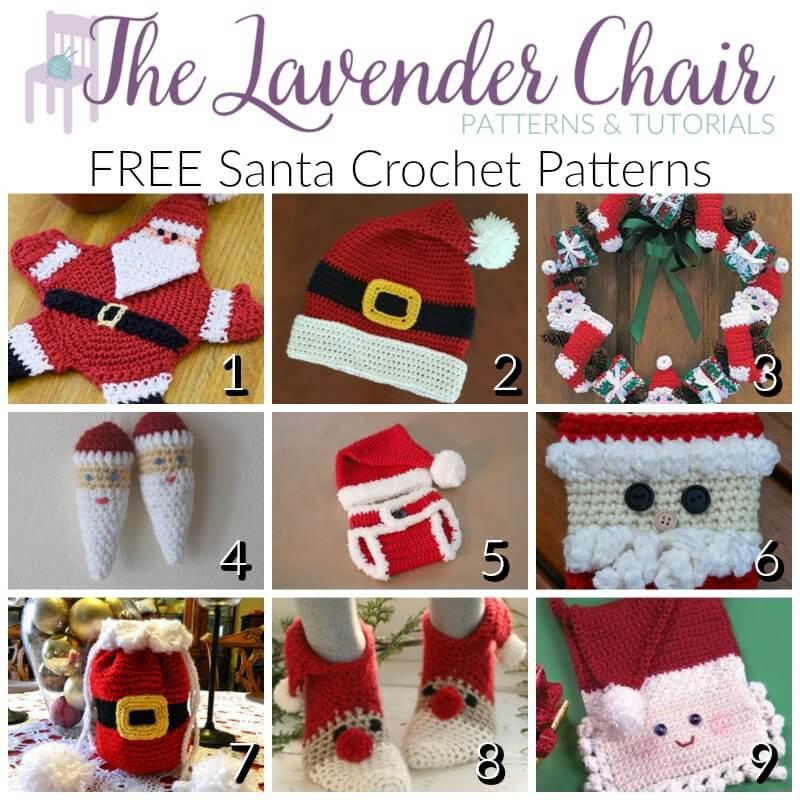 Free Santa Crochet Patterns - The Lavender Chair