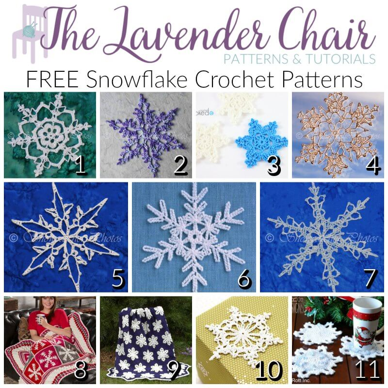 Free Snowflake Crochet Patterns - The Lavender Chair