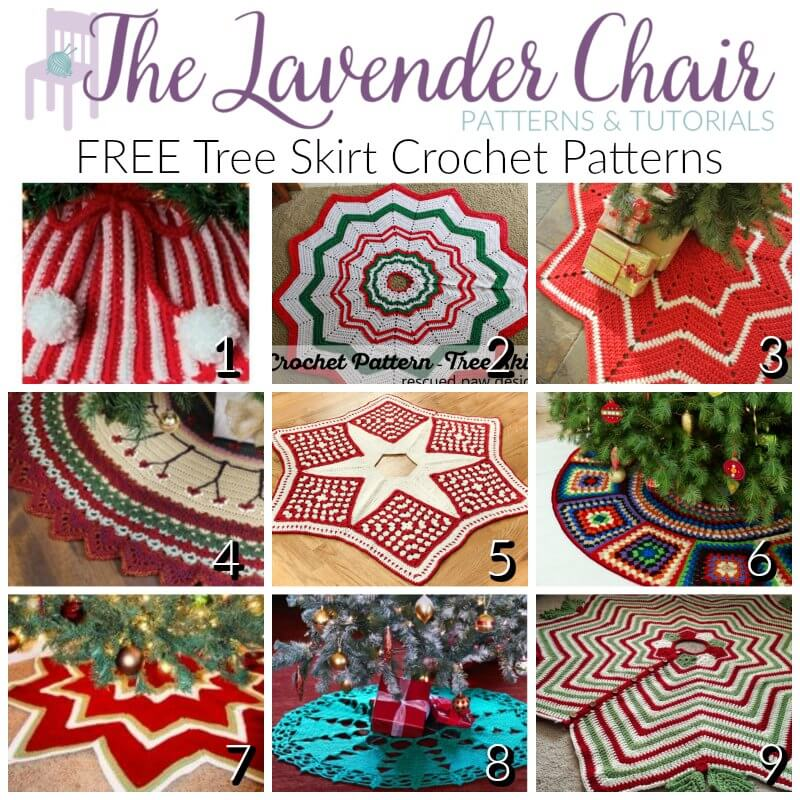 FREE Tree Skirt Crochet Patterns - The Lavender Chair