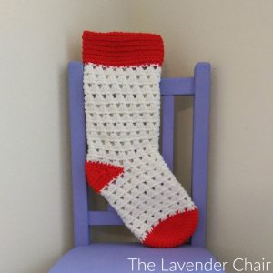 Lazy Daisy Christmas Stocking Crochet Pattern