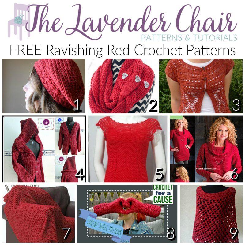 Free Ravishing Red Crochet Pattern - The Lavender Chair