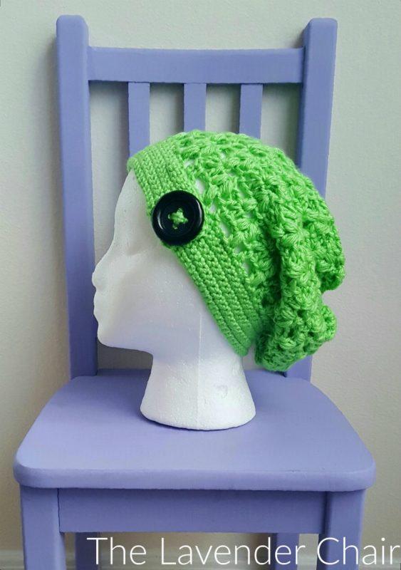 Clover Puff Slouchy Beanie - Free Crochet Pattern - The Lavender Chair