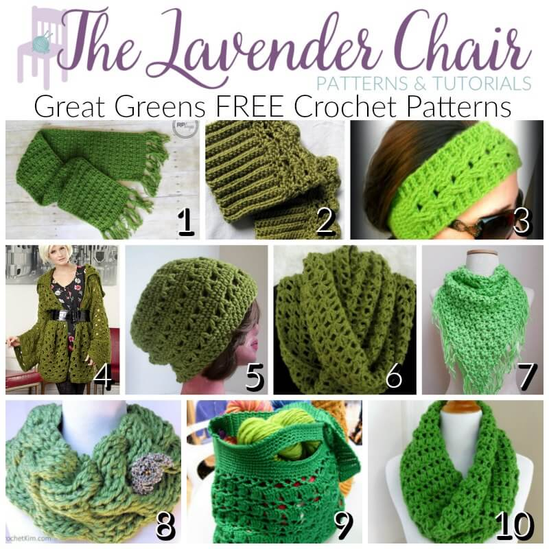 Great Green FREE Crochet Patterns - The Lavender Chair