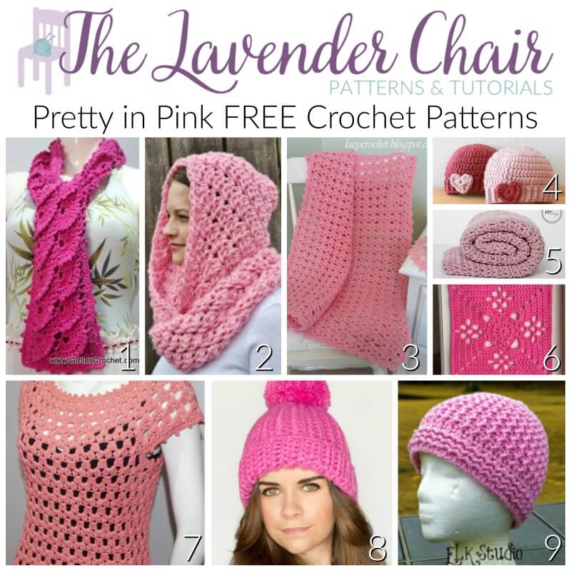 Pretty in Pink Free Crochet Patterns - The Lavender Chair