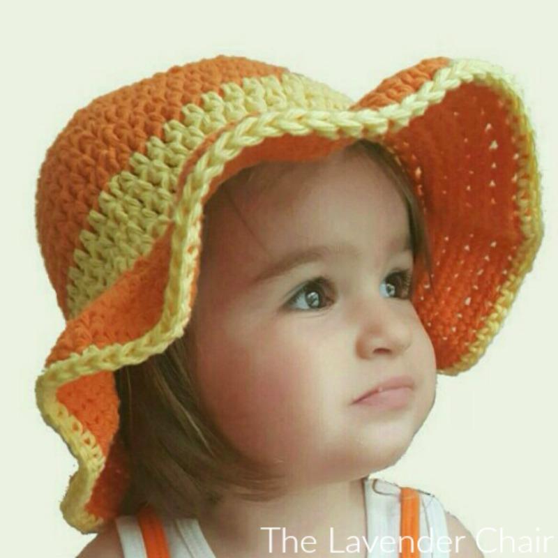 Ava's Summer Sun Hat Crochet Pattern - Free Crochet Pattern - The Lavender Chair