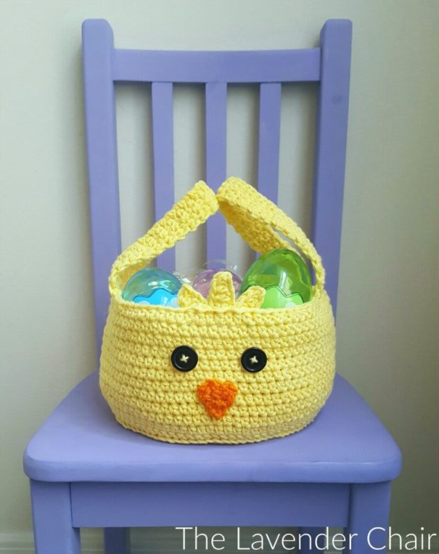 Chickadee Easter Basket - Free Crochet Pattern - The Lavender Chair