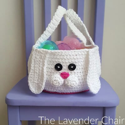Chubby Bunny Easter Basket - Free Crochet Pattern - The Lavender Chair