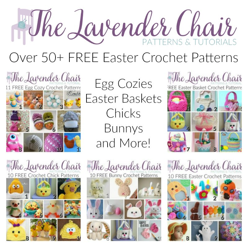 FREE Easter Basket Crochet Patterns - The Lavender Chair | 800x800