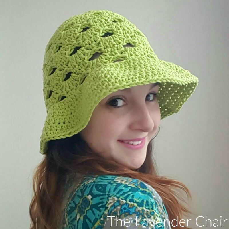 Stacked Shells Sun Hat - Free Crochet Pattern - The Lavender Chair