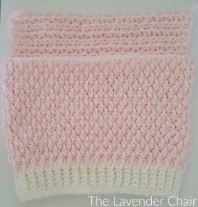 Brickwork Baby Vest Back Panel - Free Crochet Pattern - The Lavender Chair