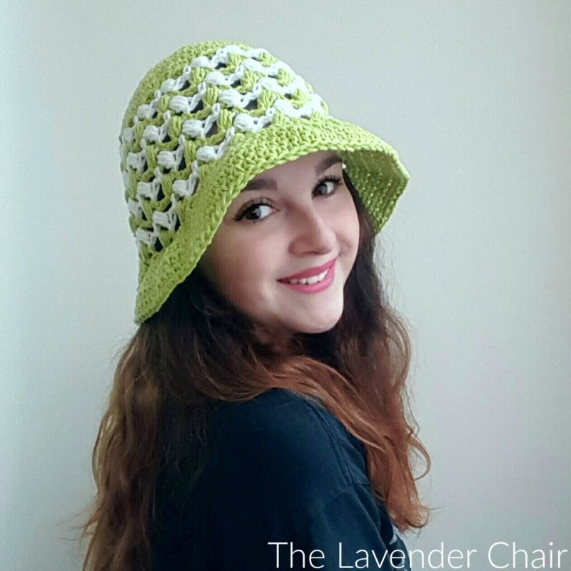 Ziggle Puff Summer Sun Hat - Free Crochet Pattern - The Lavender Chair