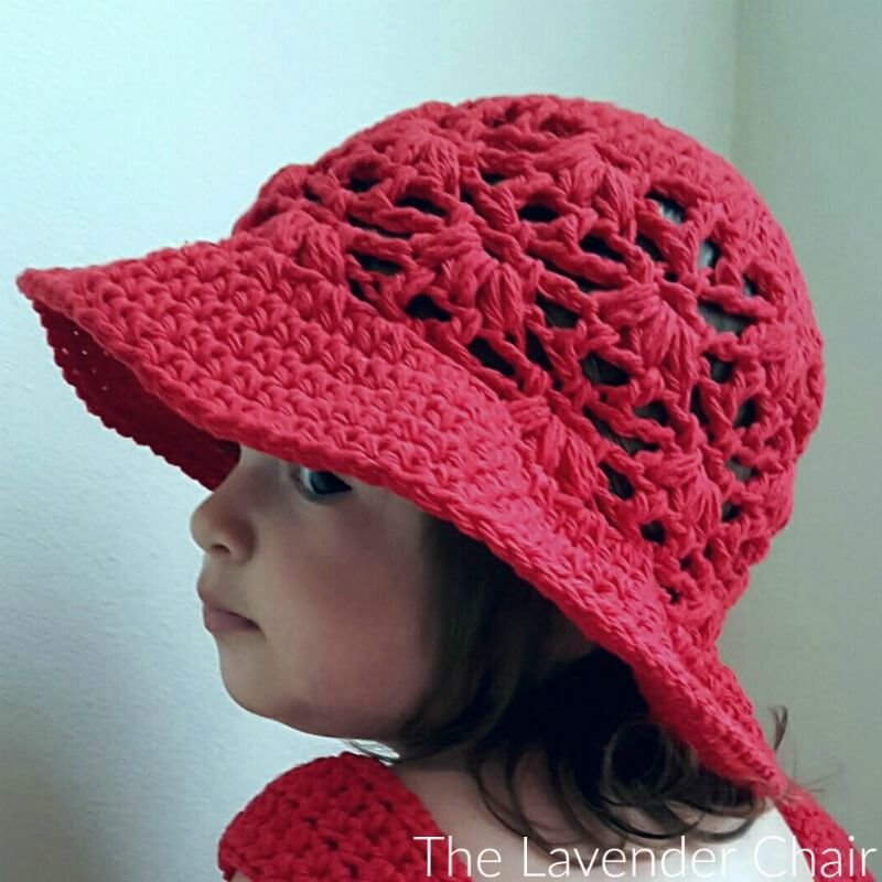 Weeping Willow Sun Hat (Infant - Child) - Free Crochet Pattern - The Lavender Chair