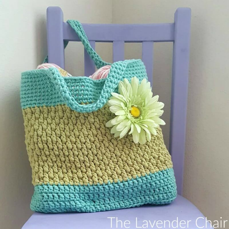 Brickwork Beach Bag - Free Crochet Pattern - The Lavender Chair
