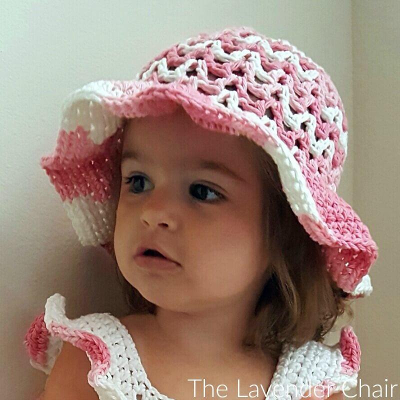 Baby crochet hat pattern Crochet sun hat Crochet bucket hat