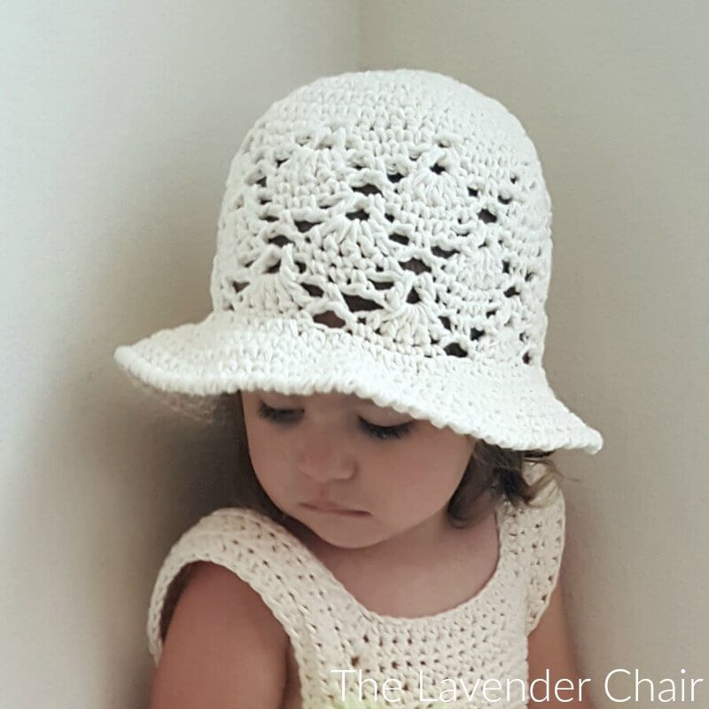 Vintage Sun Hat (Infant - Child) - Free Crochet Pattern - The Lavender Chair