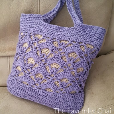 Gemstone Lace Market Tote - Free Crochet Pattern - The Lavender Chair