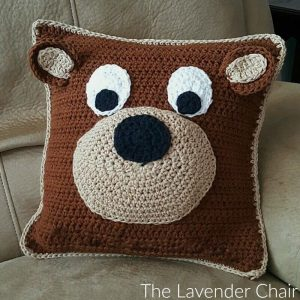 Teddy Bear Pillow Crochet Pattern