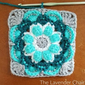 Lotus Flower Mandala Square - Free Crochet Pattern - The Lavender Chair