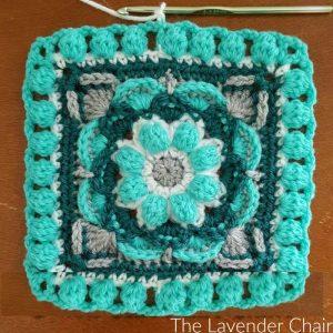 Lotus Flower Mandala Square - Free Crochet Pattern - The Lavender Chair