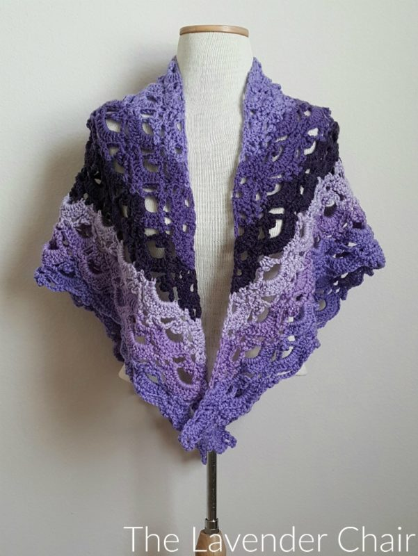 Mirrored Gemstone Lace Shawl - Free Crochet Pattern - The Lavender Chair