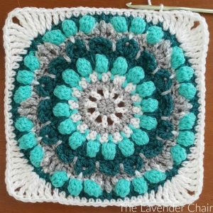 Petunia Roundabout Mandala Square - Free Crochet Pattern - The Lavender Chair