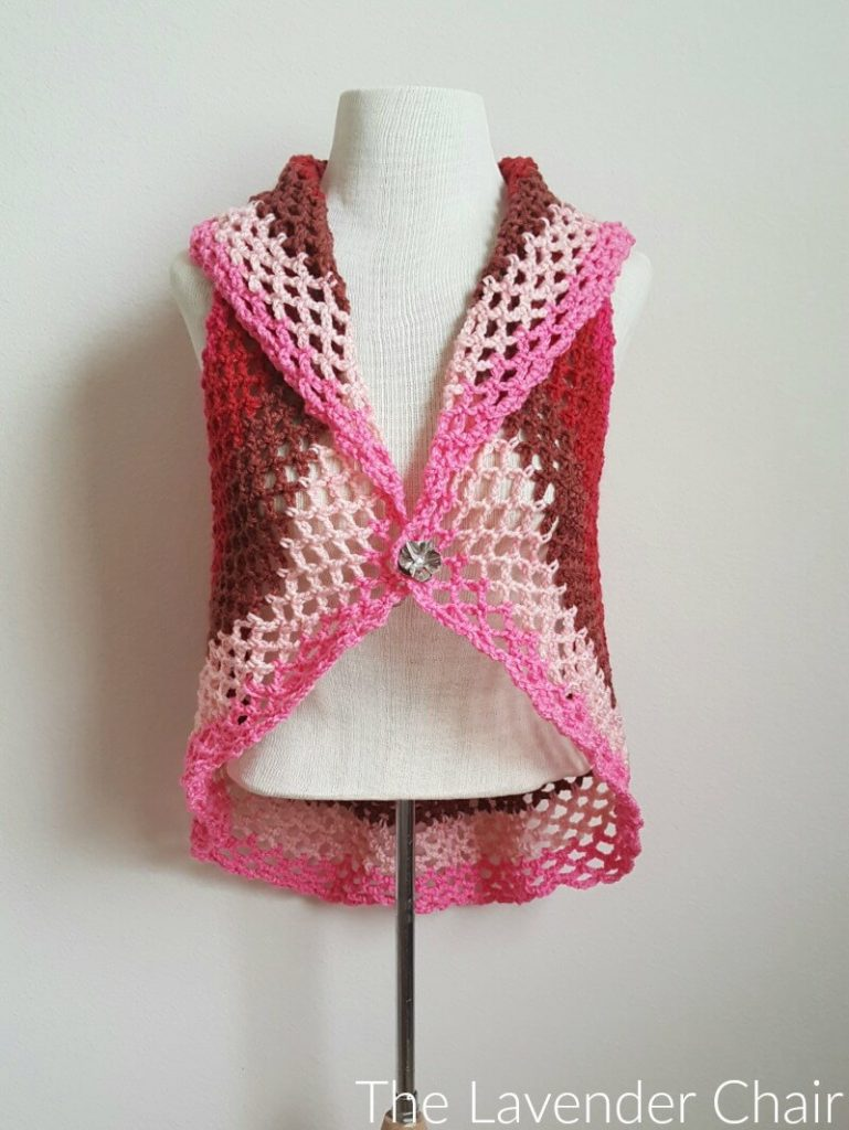 Pocket Full of Posies Circular Vest - Free Crochet Pattern - The Lavender Chair
