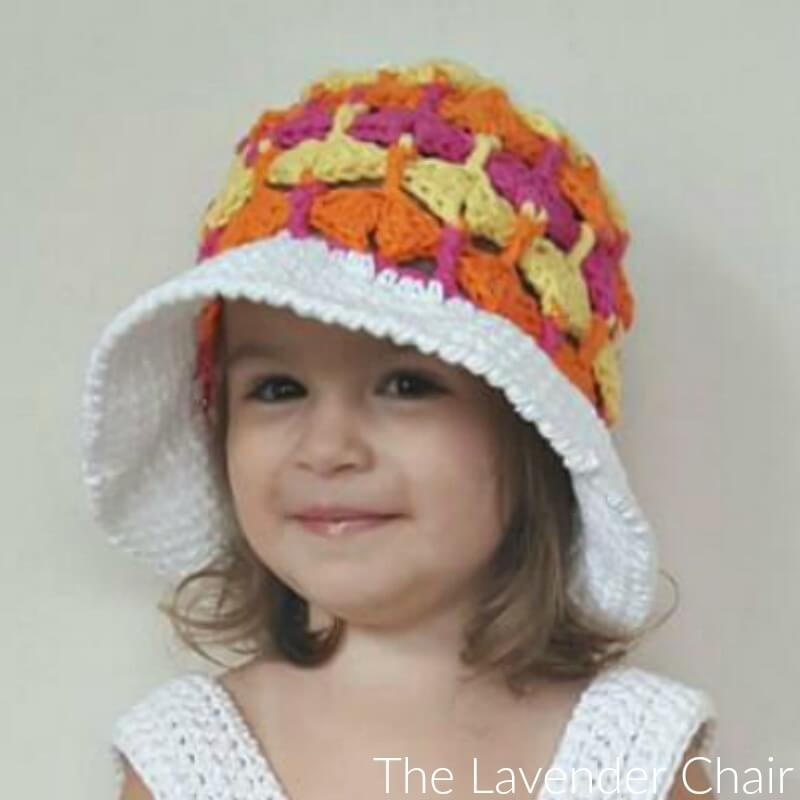 Quiver Fans Sun Hat - Free Crochet Pattern - The Lavender Chair
