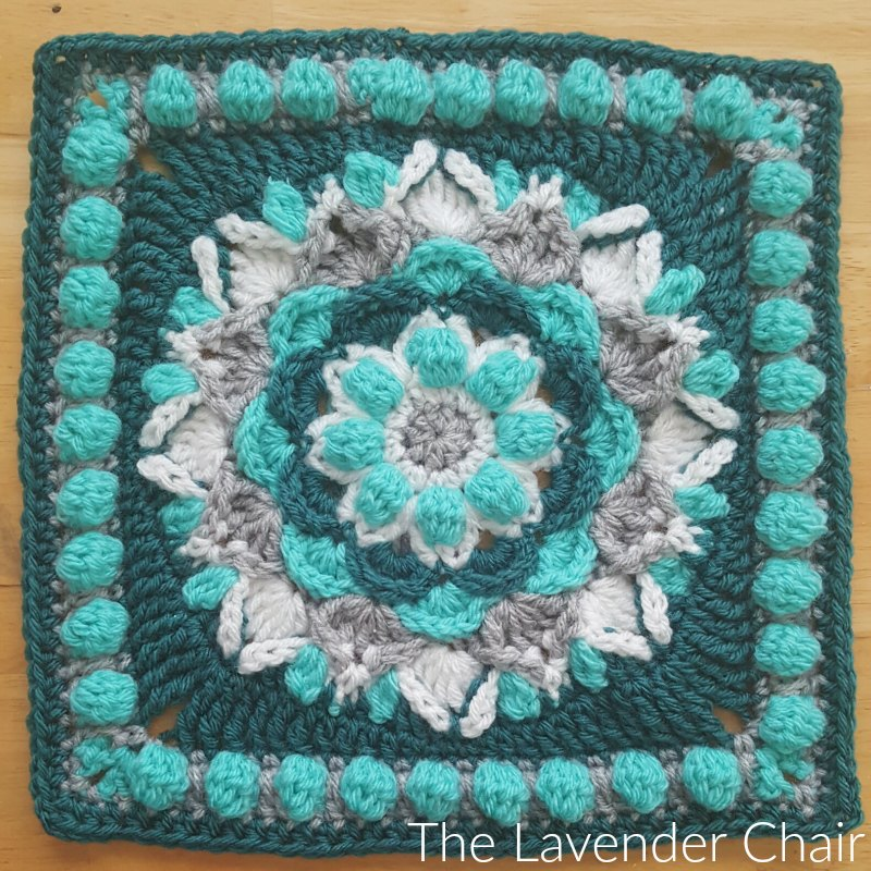 Cascading Dahlia Mandala Square - Free Crochet Pattern - The Lavender Chair