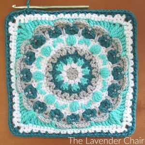 Chrysanthemum Mandala Square - Free Crochet Pattern - The Lavender Chair