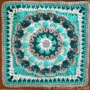 Chrysanthemum Mandala Square Crochet Pattern