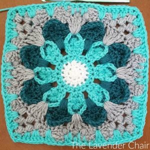 Crazy Daisy Mandala Square - Free Crochet Pattern - The Lavender Chair