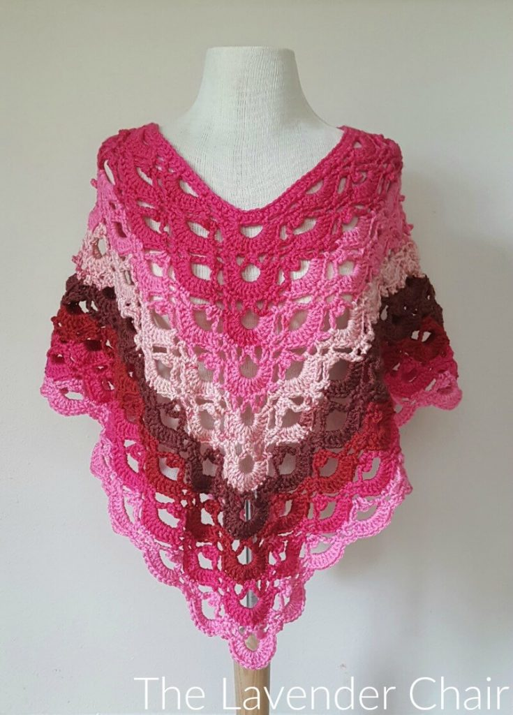 Gemstone Lace Poncho (Adult) - Free Crochet Pattern - The Lavender Chair