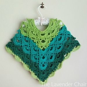 Gemstone Lace Poncho (Toddler/Child) Crochet Pattern