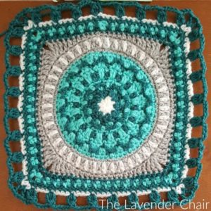 Peony Mandala Square - Free Crochet Pattern - The Lavender Chair