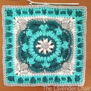 Sea Flower Mandala Square - Free Crochet Pattern  - The Lavender Chair