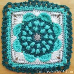 Sunflower Mandala Square - Free Crochet Pattern - The Lavender Chair