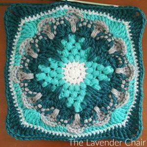 Wallflower Mandala Square - Free Crochet Pattern - The Lavender Chair