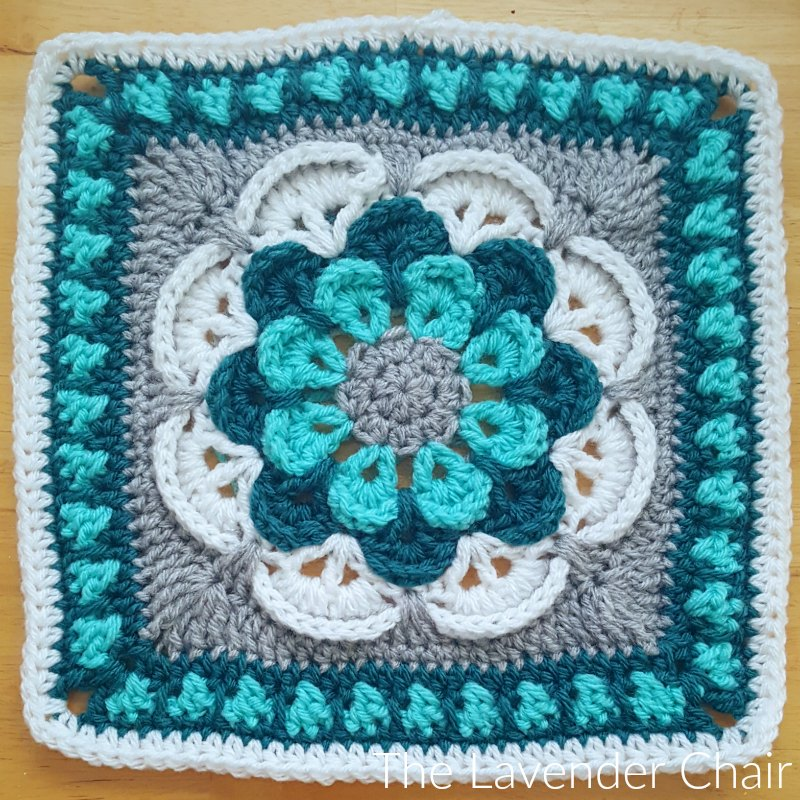 Cascading Daisy Mandala Square - Free Crochet Pattern - The Lavender Chair