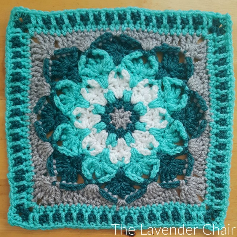 Kaleidoscope Lily Mandala Square - Free Crochet Pattern - The Lavender Chair