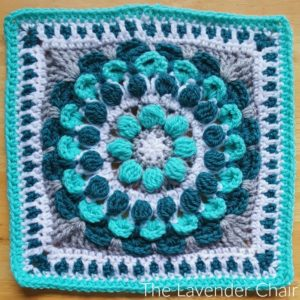 Marigold Mandala Square - Free Crochet Pattern - The Lavender Chair