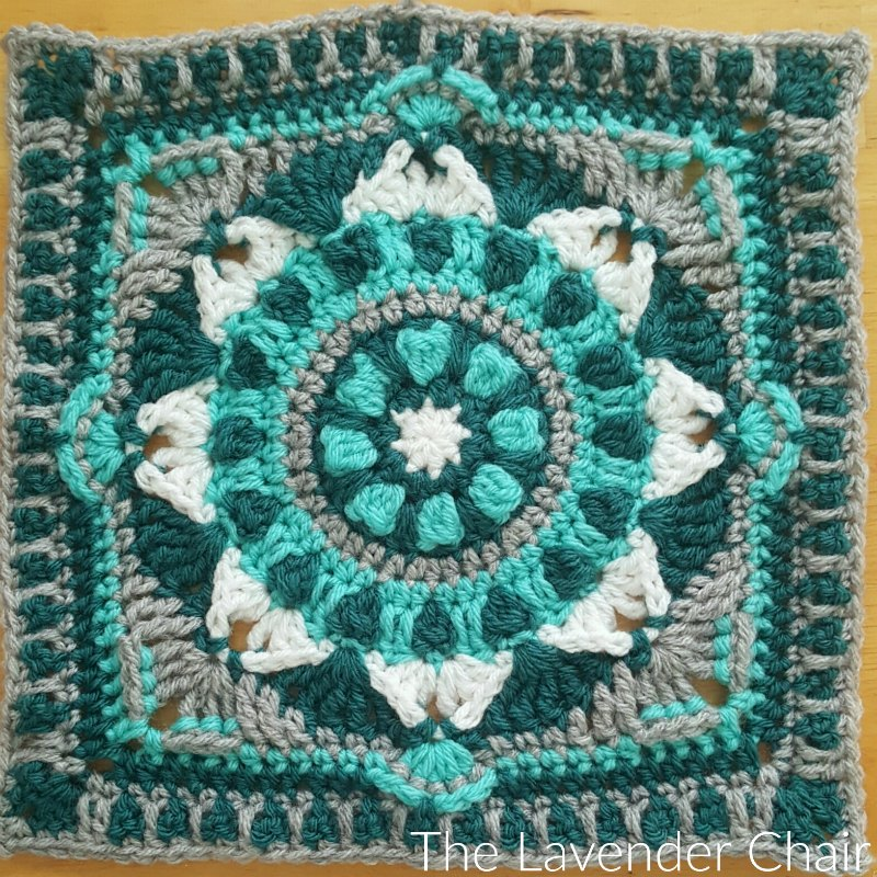 Starflower Mandala Square - Free Crochet Pattern - The Lavender Chair