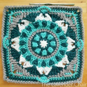 Starflower Mandala Square -  Free Crochet Pattern - The Lavender Chair
